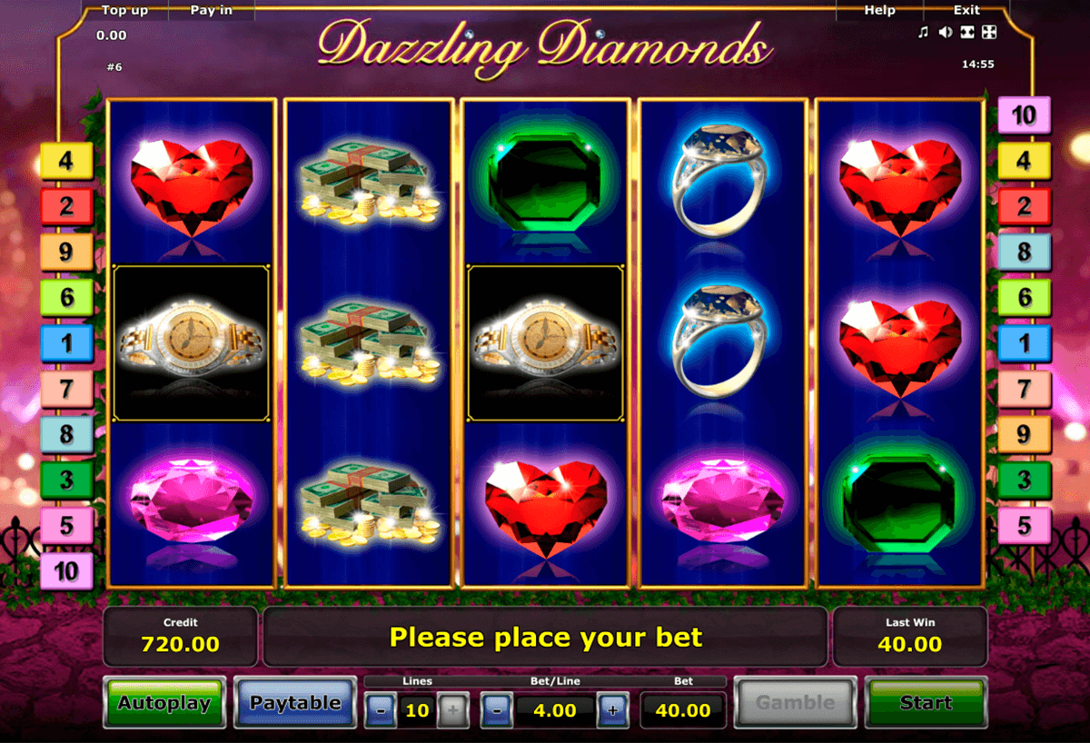 dazzling diamonds novomatic slot machine