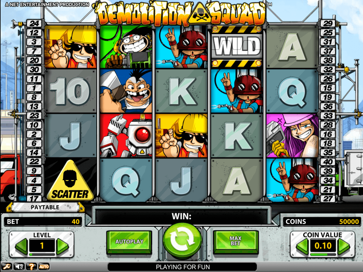 demolition squad netent slot machine