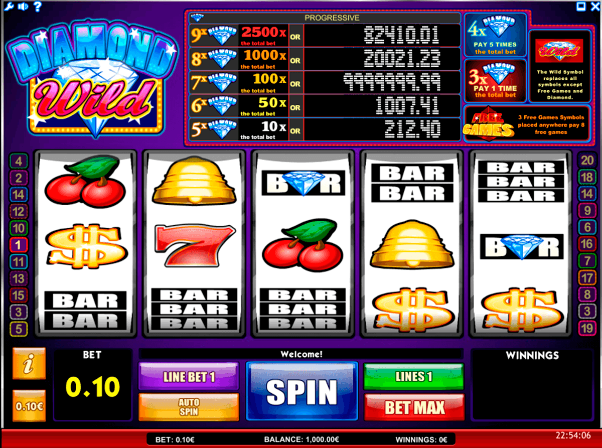 diamond wild isoftbet slot machine