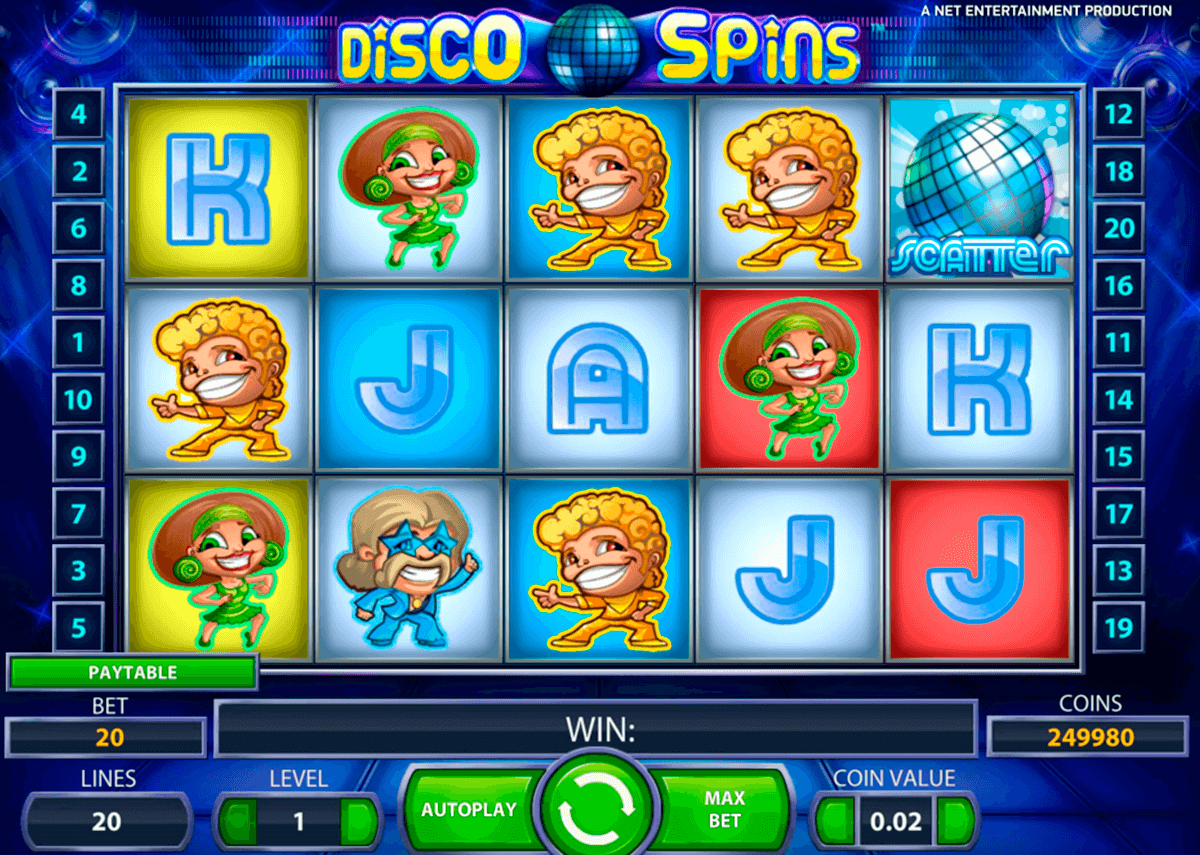 disco spins netent slot machine
