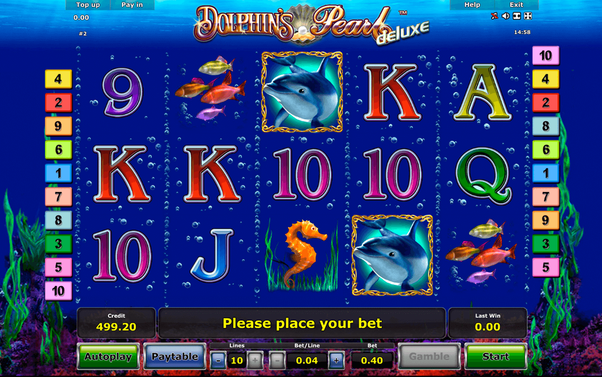 dolphins pearl deluxe novomatic slot machine