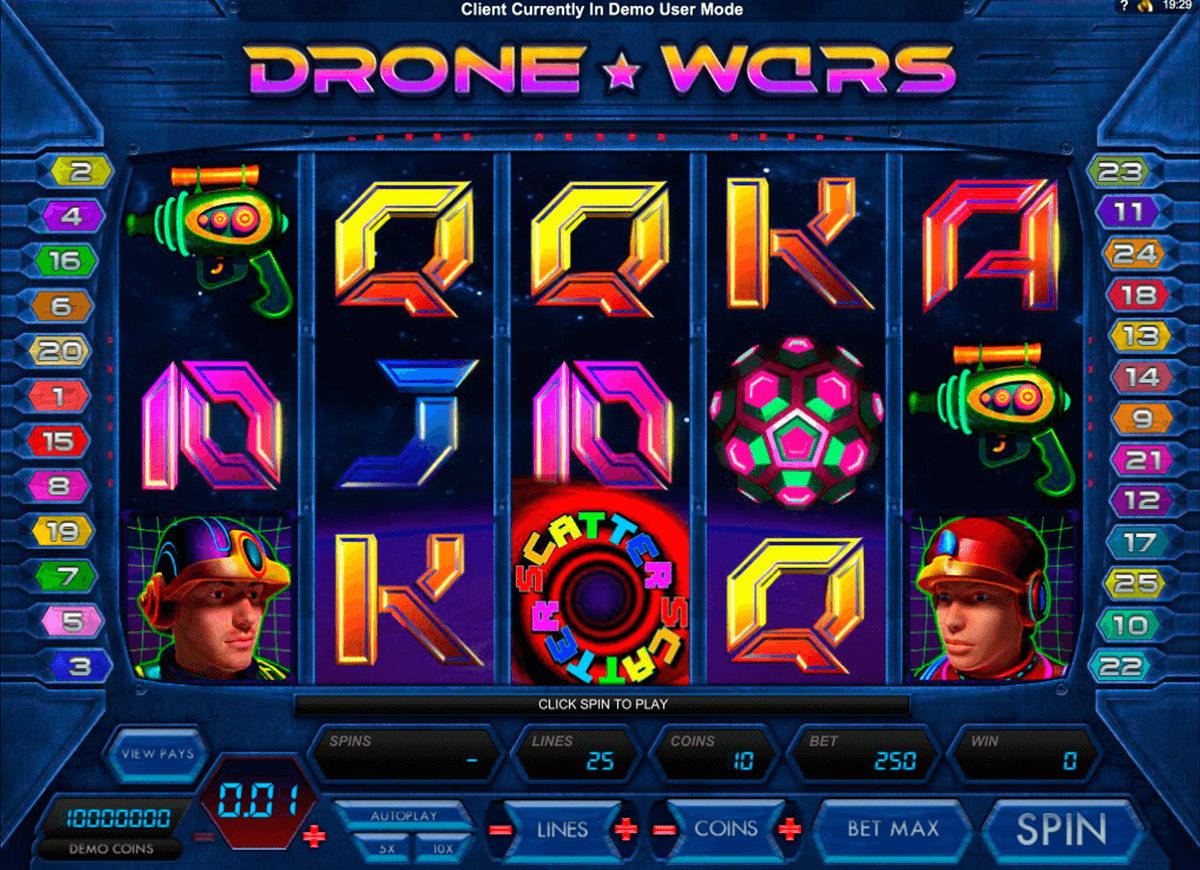 drone wars microgaming slot machine