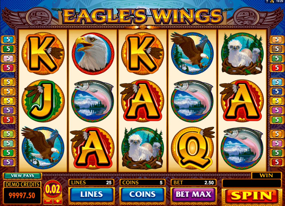 eagles wings microgaming slot machine