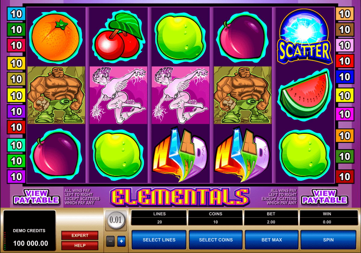 elementals microgaming slot machine