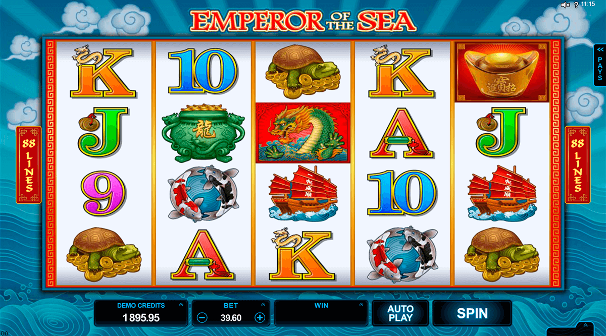 emperor of the sea microgaming slot machine
