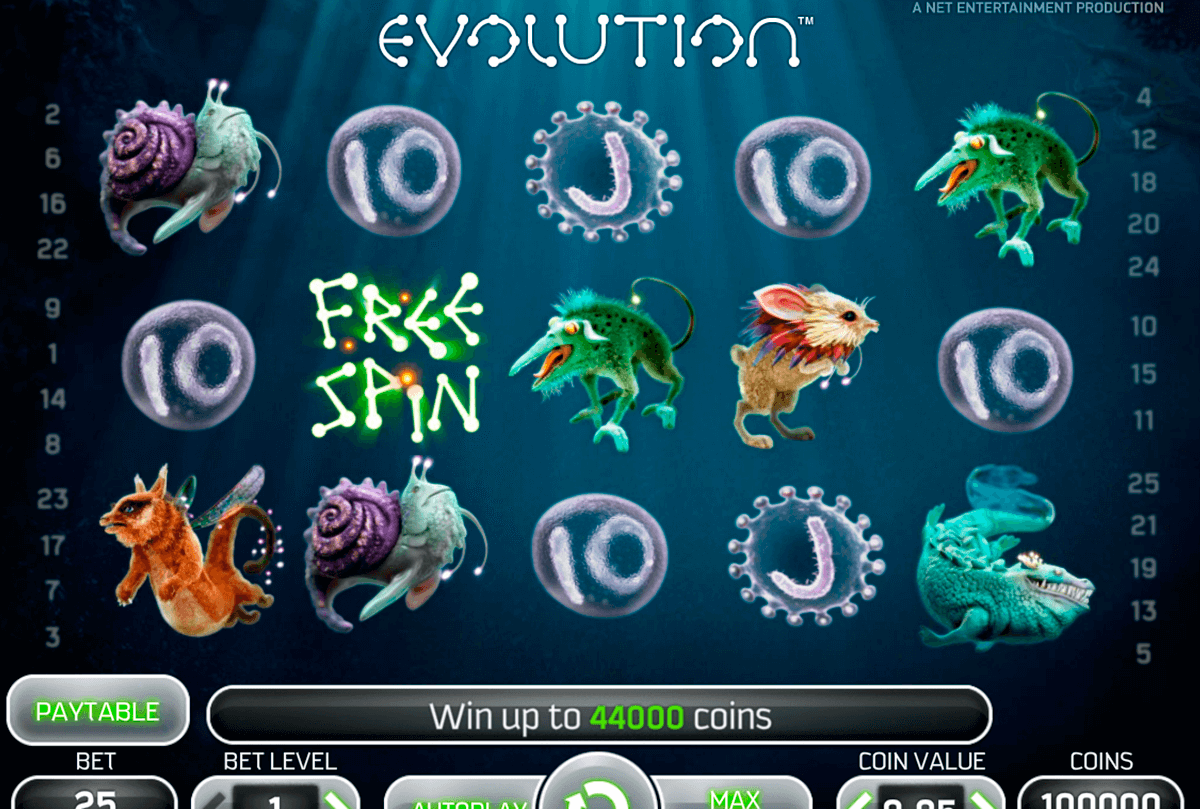evolution netent slot machine