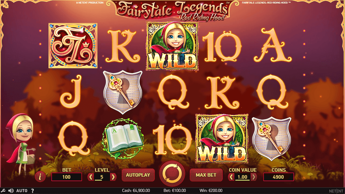 fairytale legends red riding hood netent slot machine