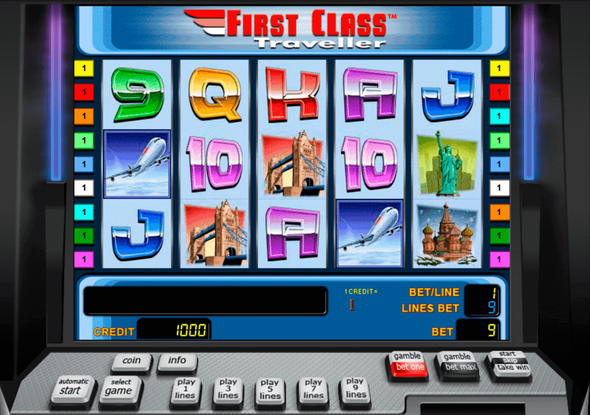 first class traveller novomatic slot machine