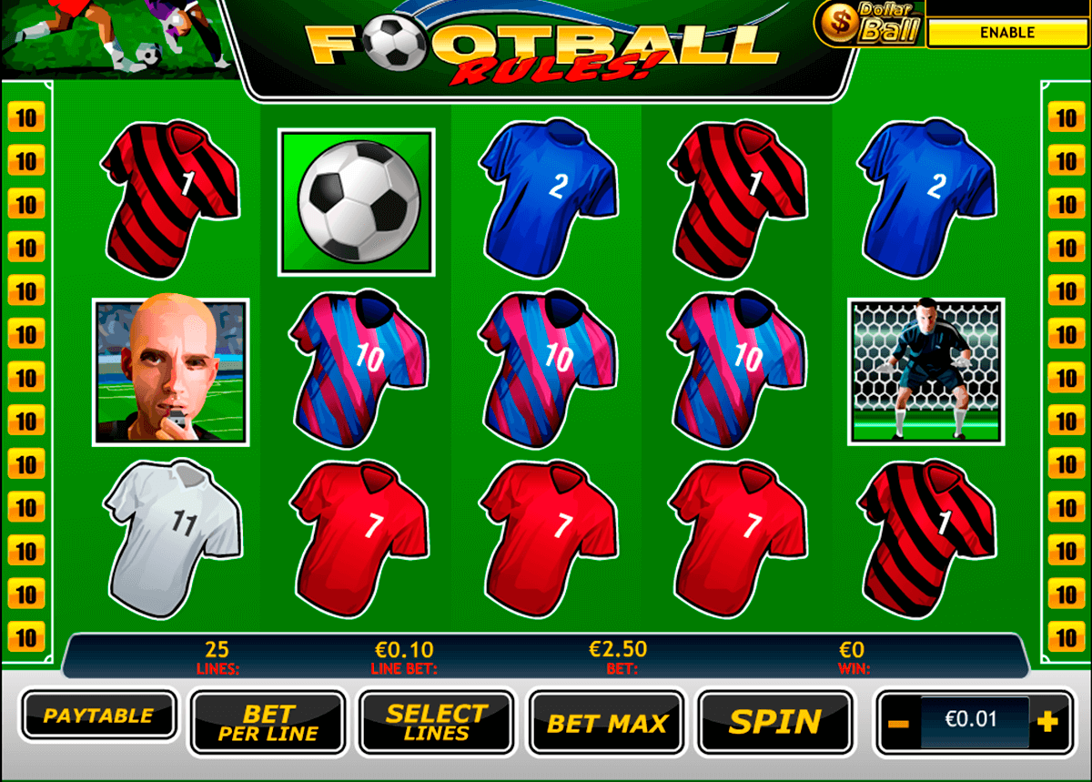 football rules playtech slot machine