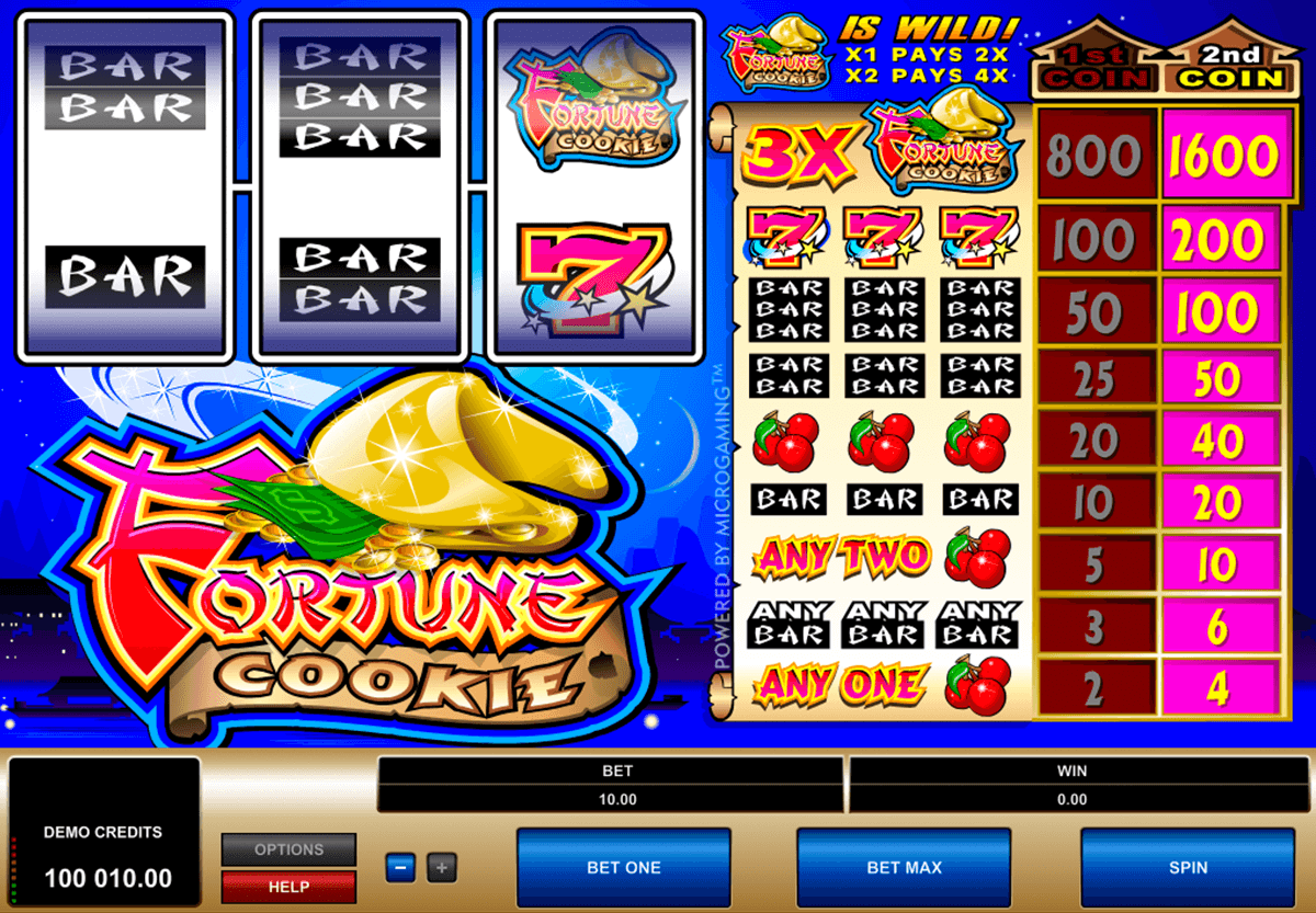 fortune cookie microgaming slot machine
