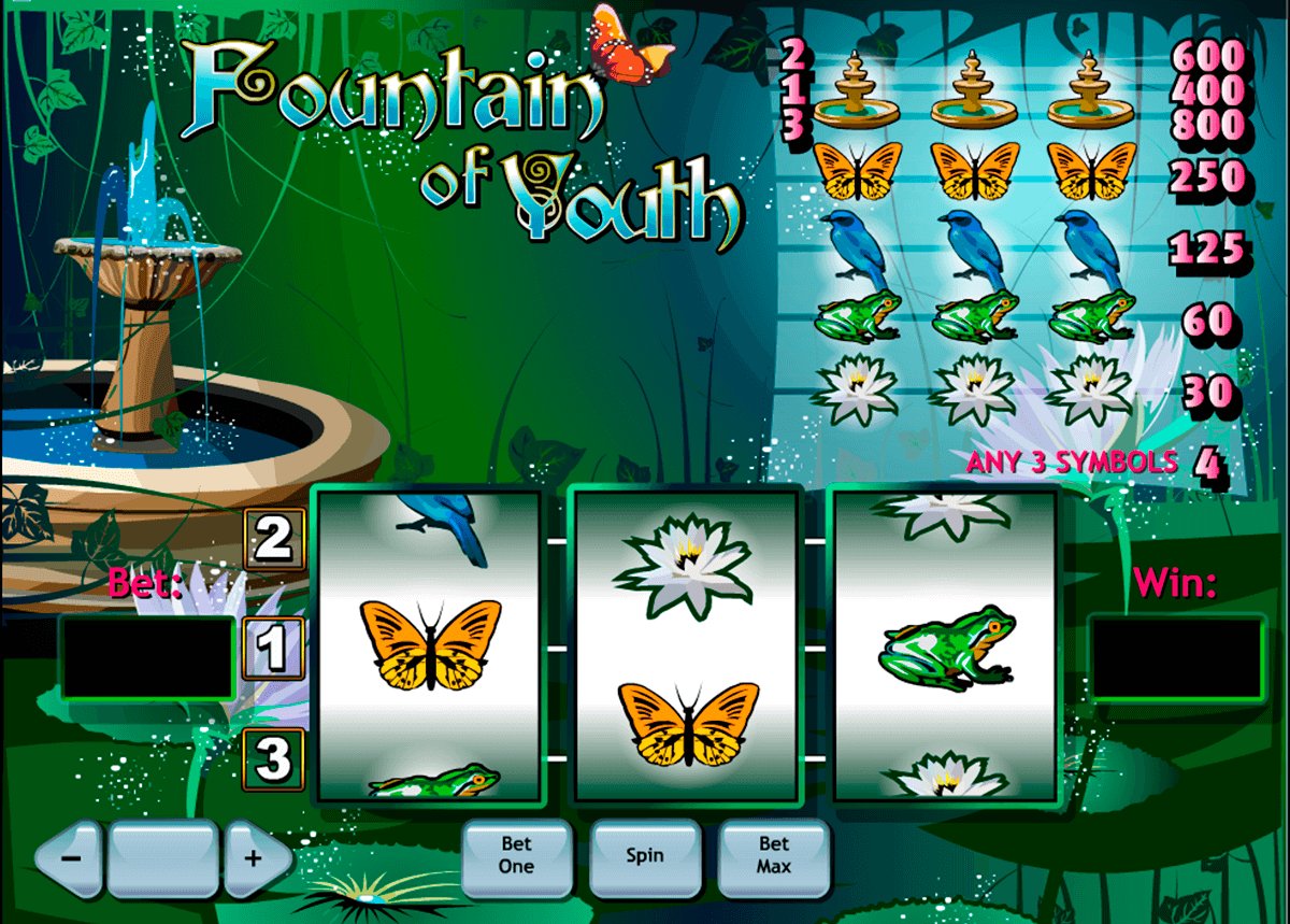 fountain of youth playtech slot machine