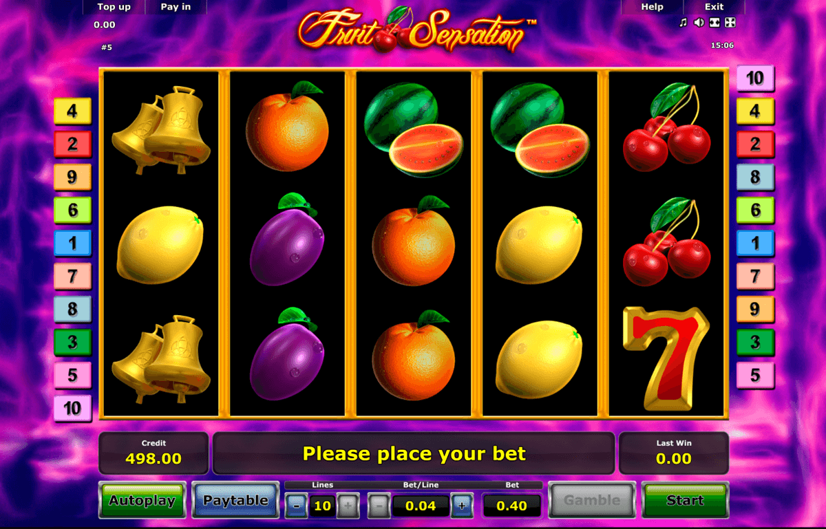 fruit sensation novomatic slot machine