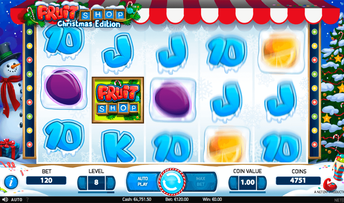 fruit shop christmas edition netent slot machine