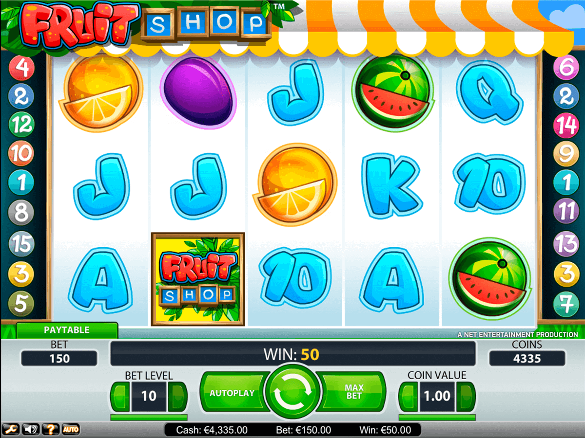 fruit shop netent slot machine