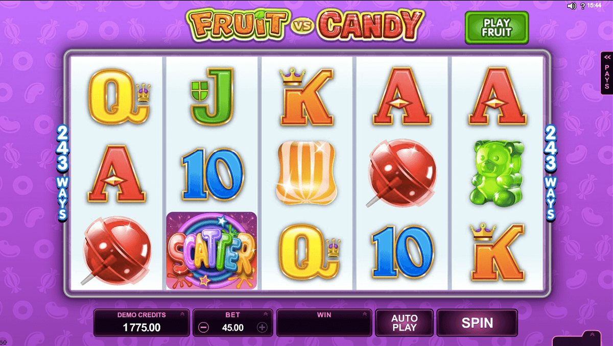 fruit vs candy microgaming slot machine