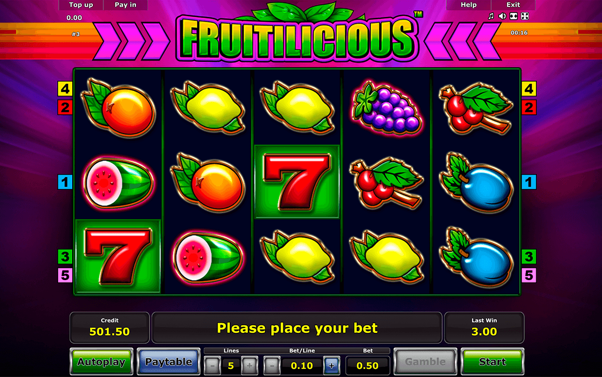 fruitilicious novomatic slot machine
