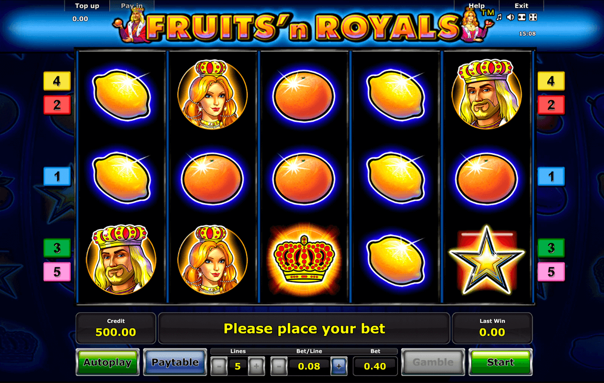 fruitsn royals novomatic slot machine