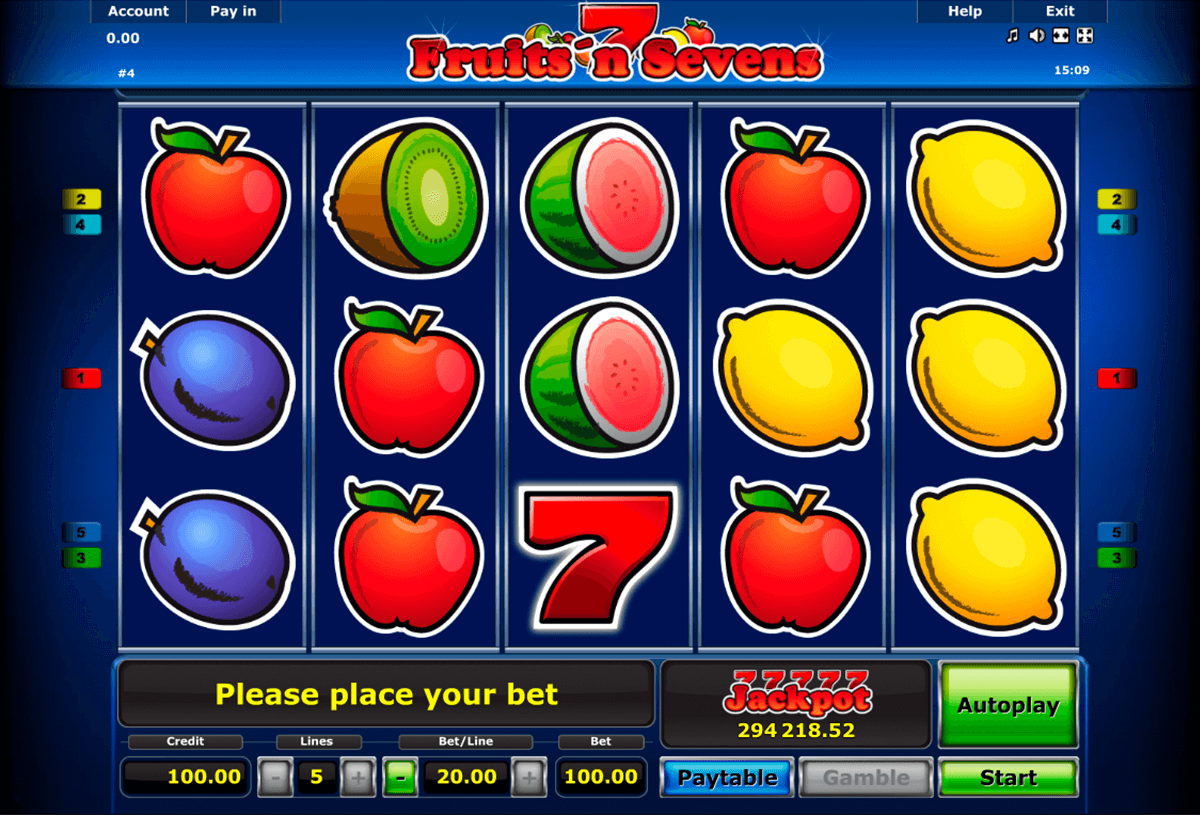 fruitsn sevens novomatic slot machine