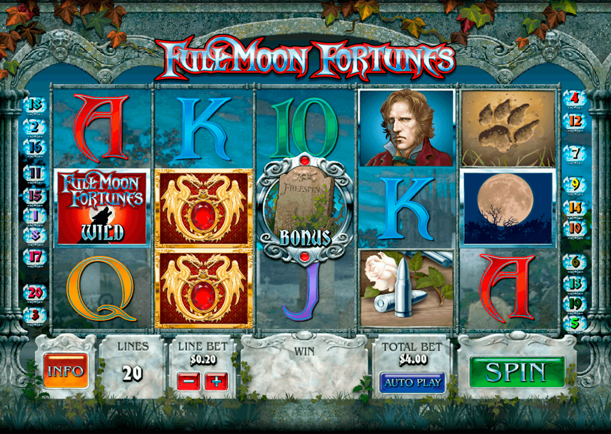 full moon fortunes playtech slot machine