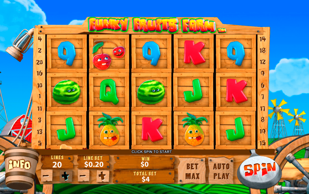 funky fruits farm playtech slot machine