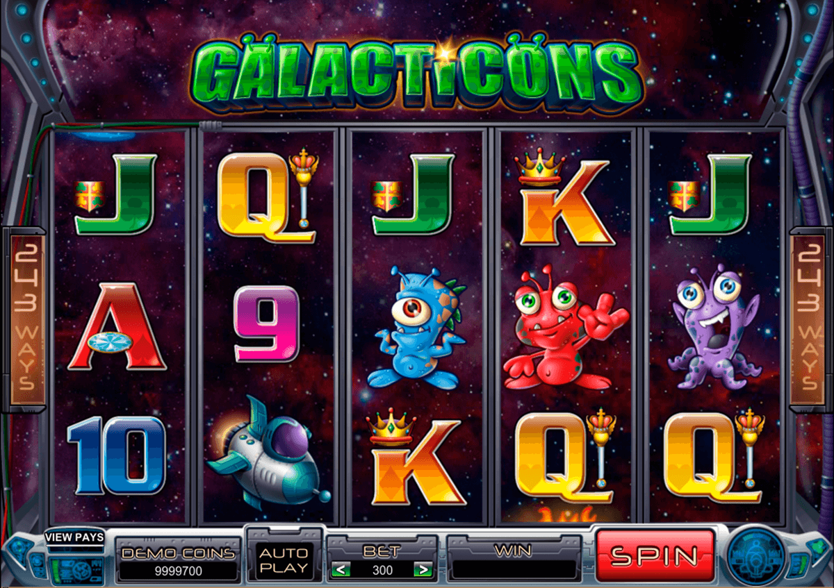 galacticons microgaming slot machine