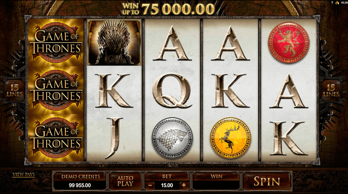 game of thrones 15 lines microgaming slot machine