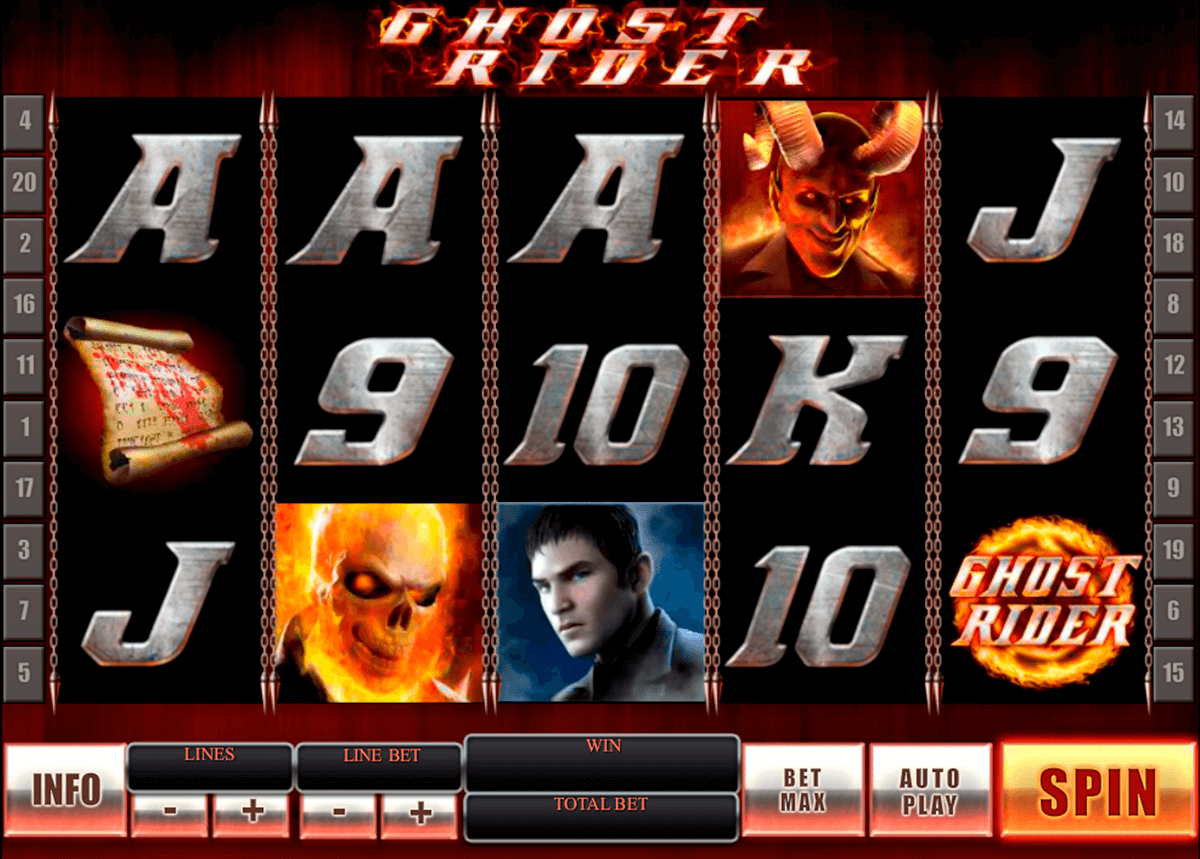 ghost rider playtech slot machine