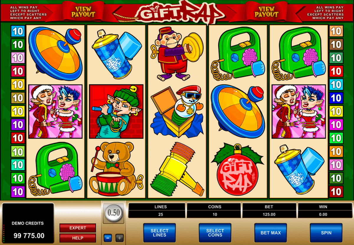 gift rap microgaming slot machine
