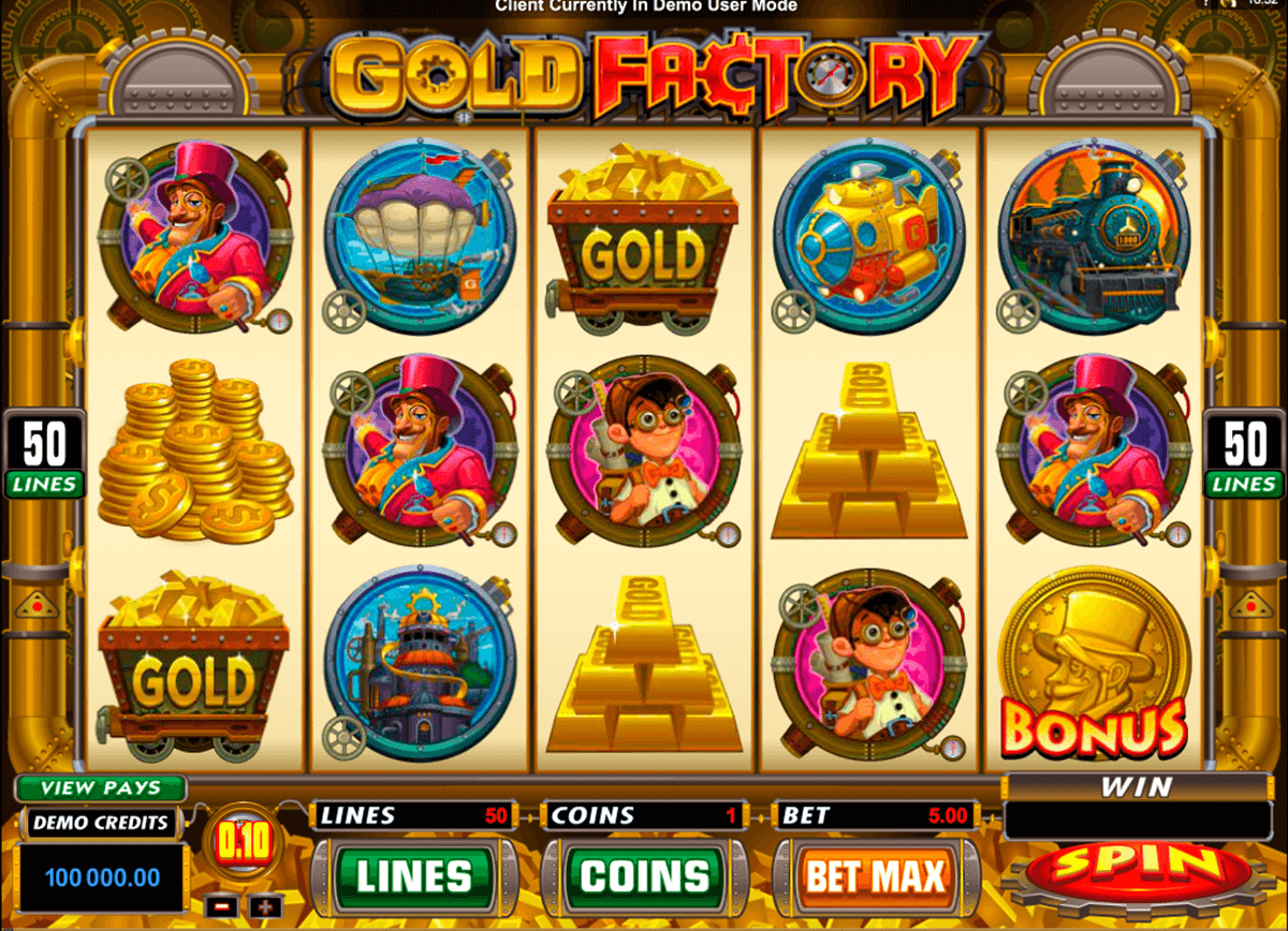gold factory microgaming slot machine