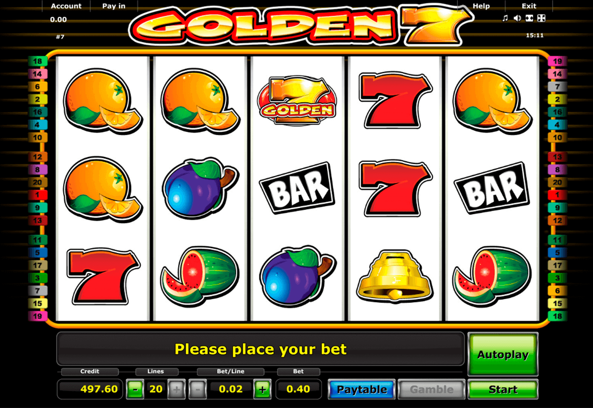 golden 7 novomatic slot machine