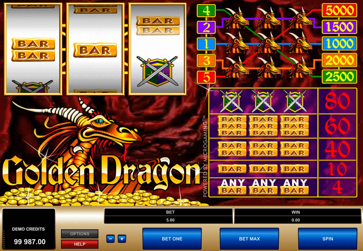 golden dragon microgaming slot machine