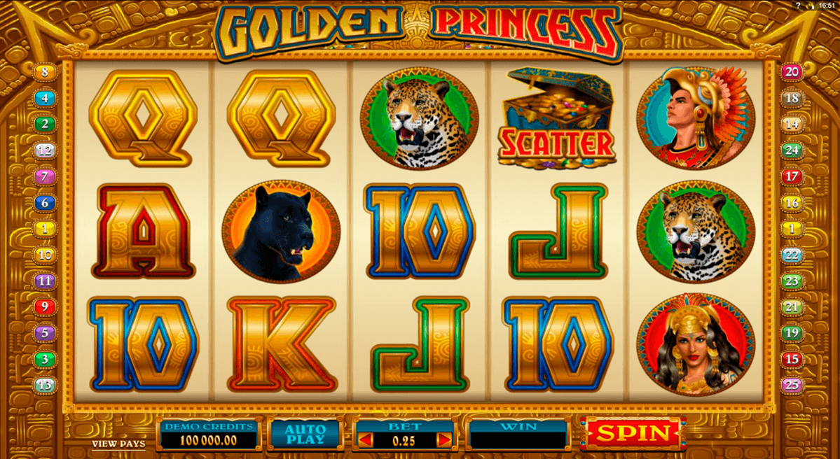 golden princess microgaming slot machine