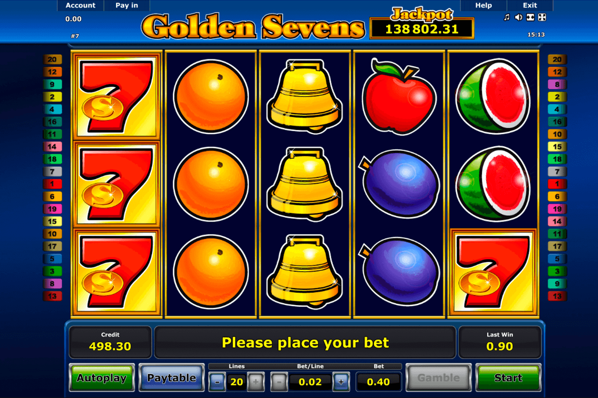 golden sevens novomatic slot machine