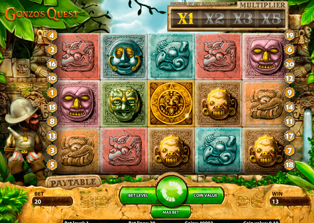 gonzos quest netent slot machine