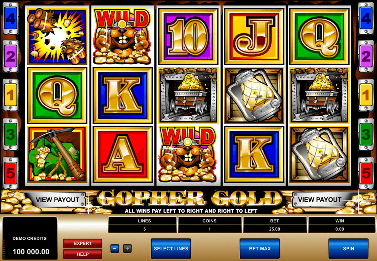 gopher gold microgaming slot machine