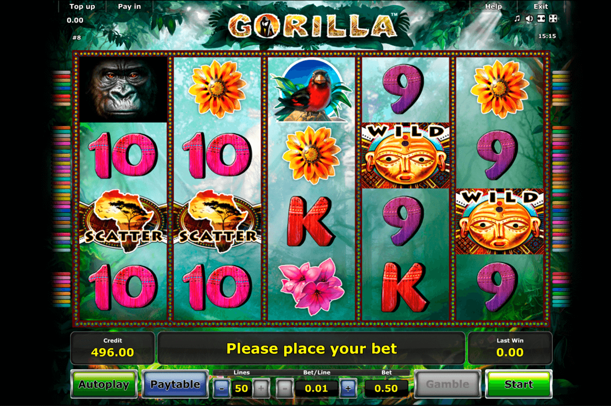 gorilla novomatic slot machine