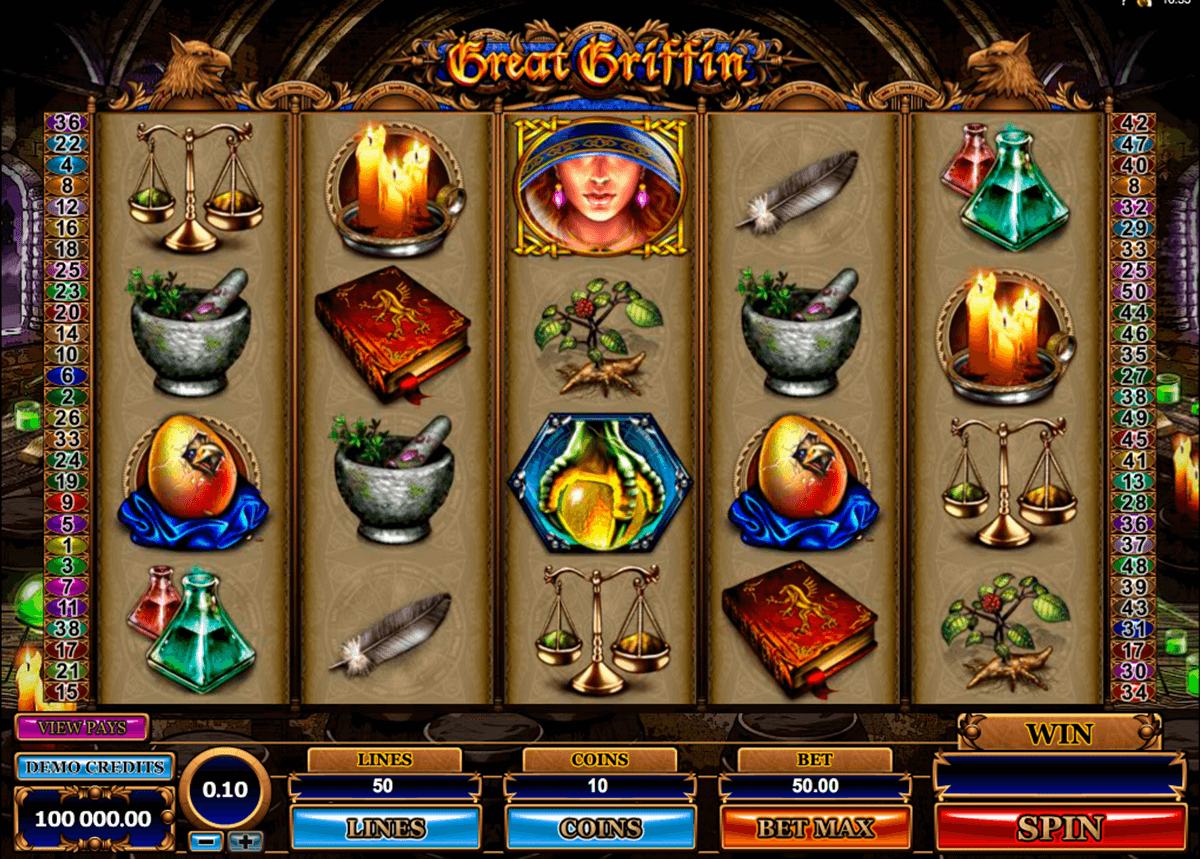 great griffin microgaming slot machine