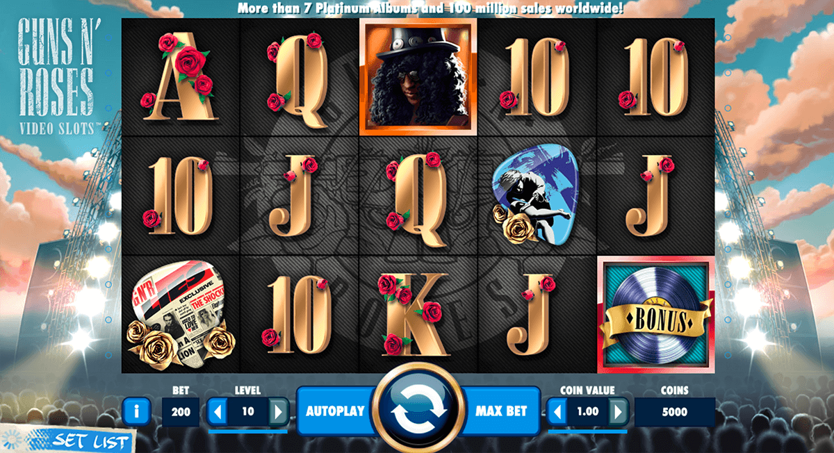 guns n roses netent slot machine