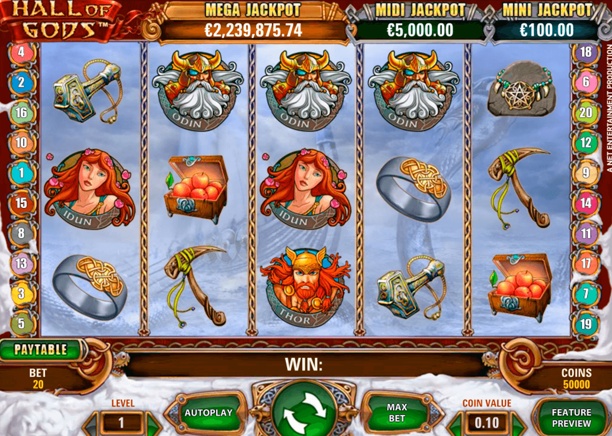 hall of gods netent slot machine