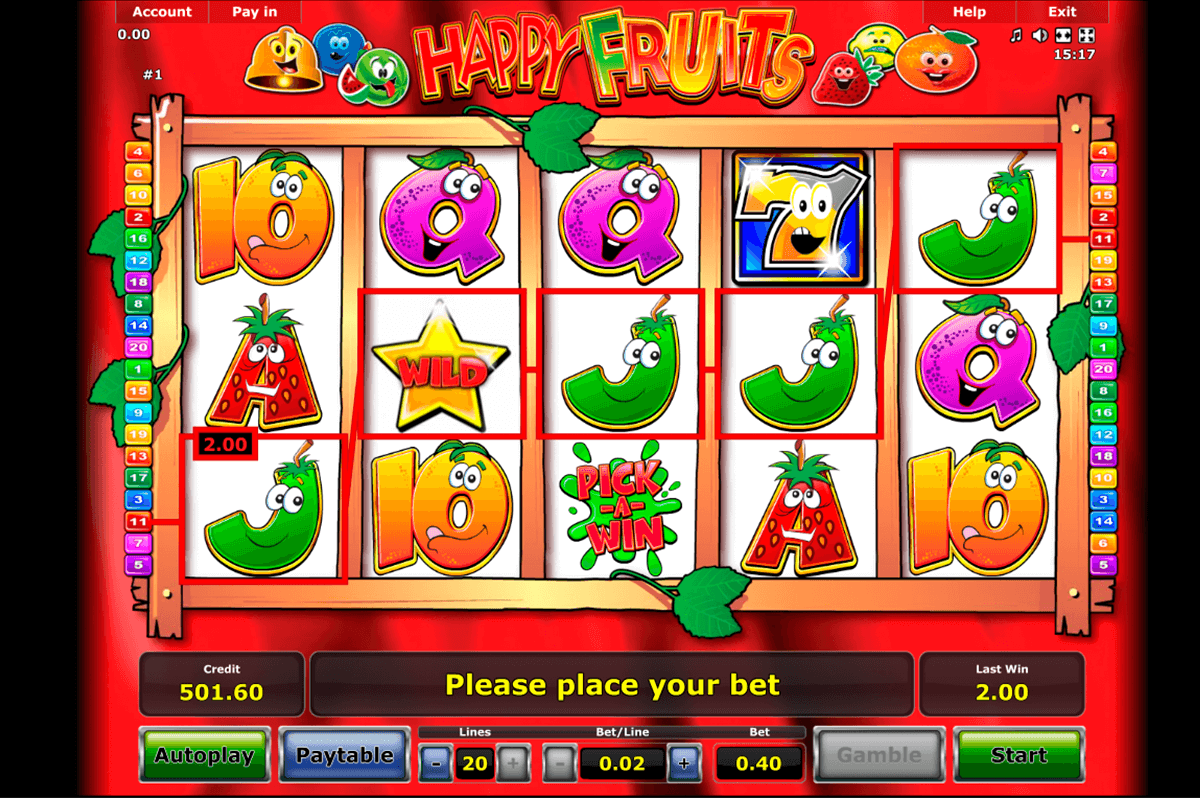happy fruits novomatic slot machine