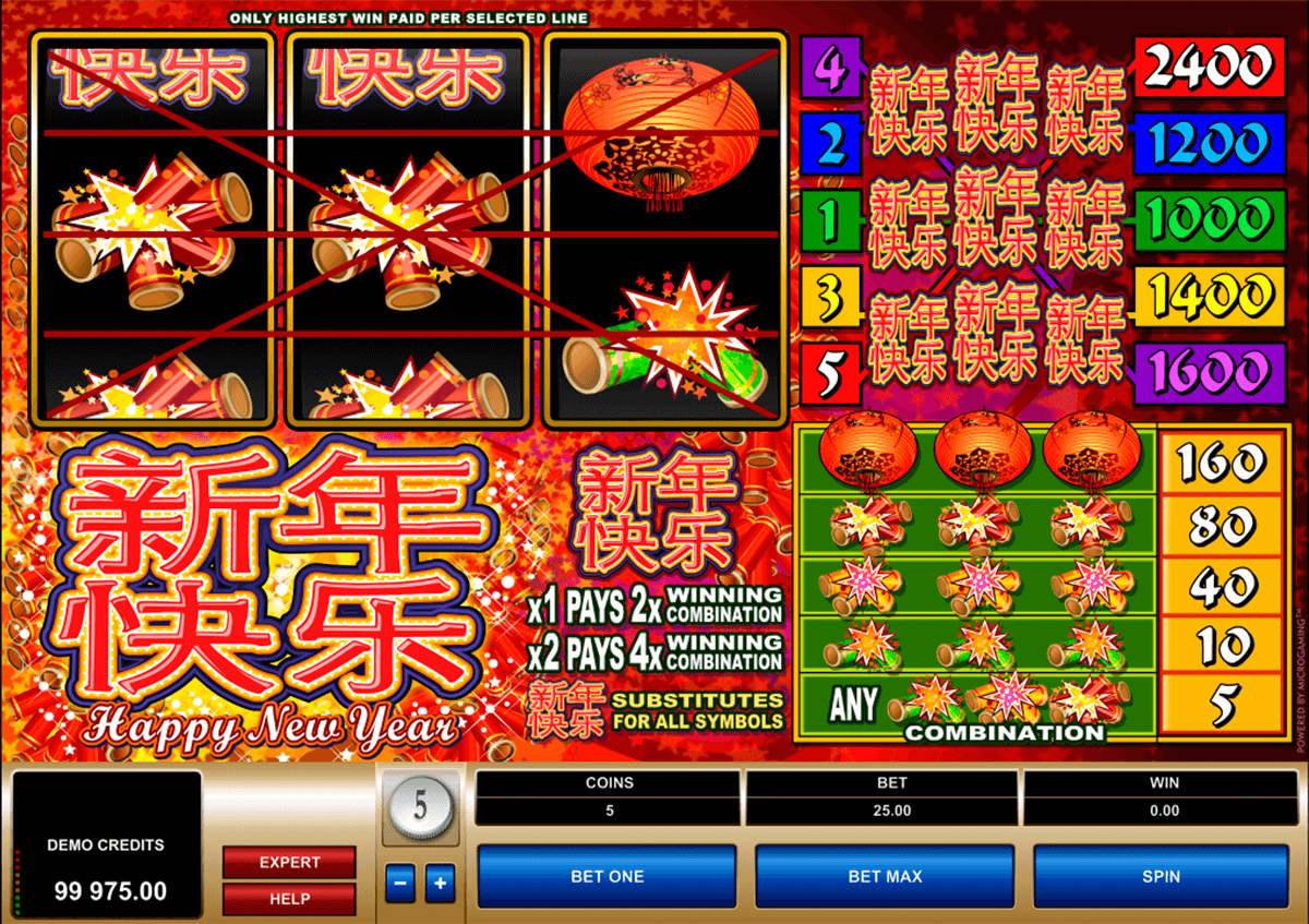happy new year microgaming slot machine
