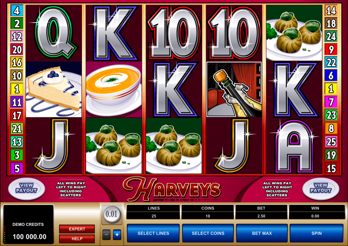 harveys microgaming slot machine