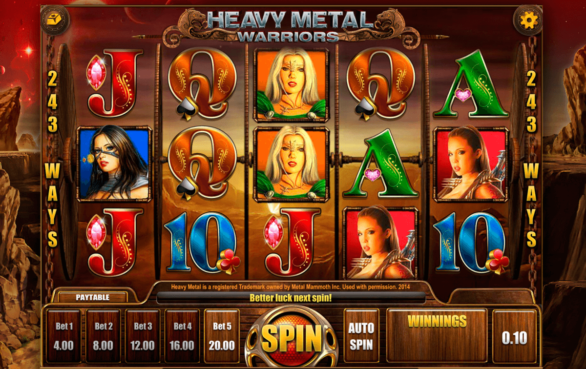 heavy metal warriors isoftbet slot machine