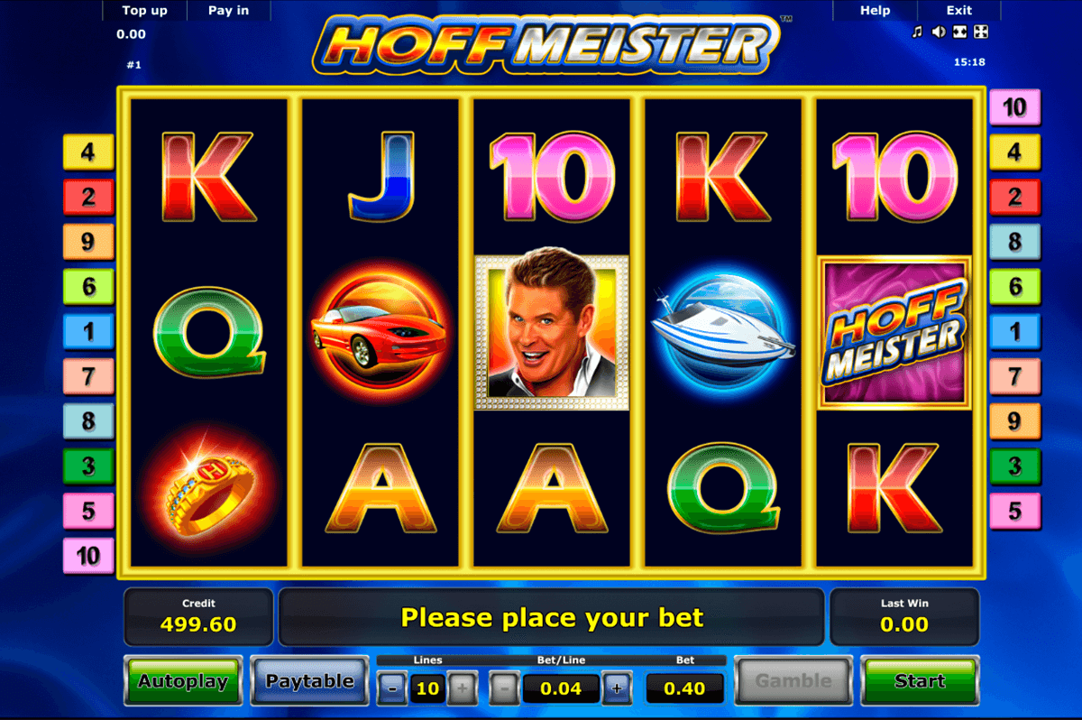 hoffmeister novomatic slot machine