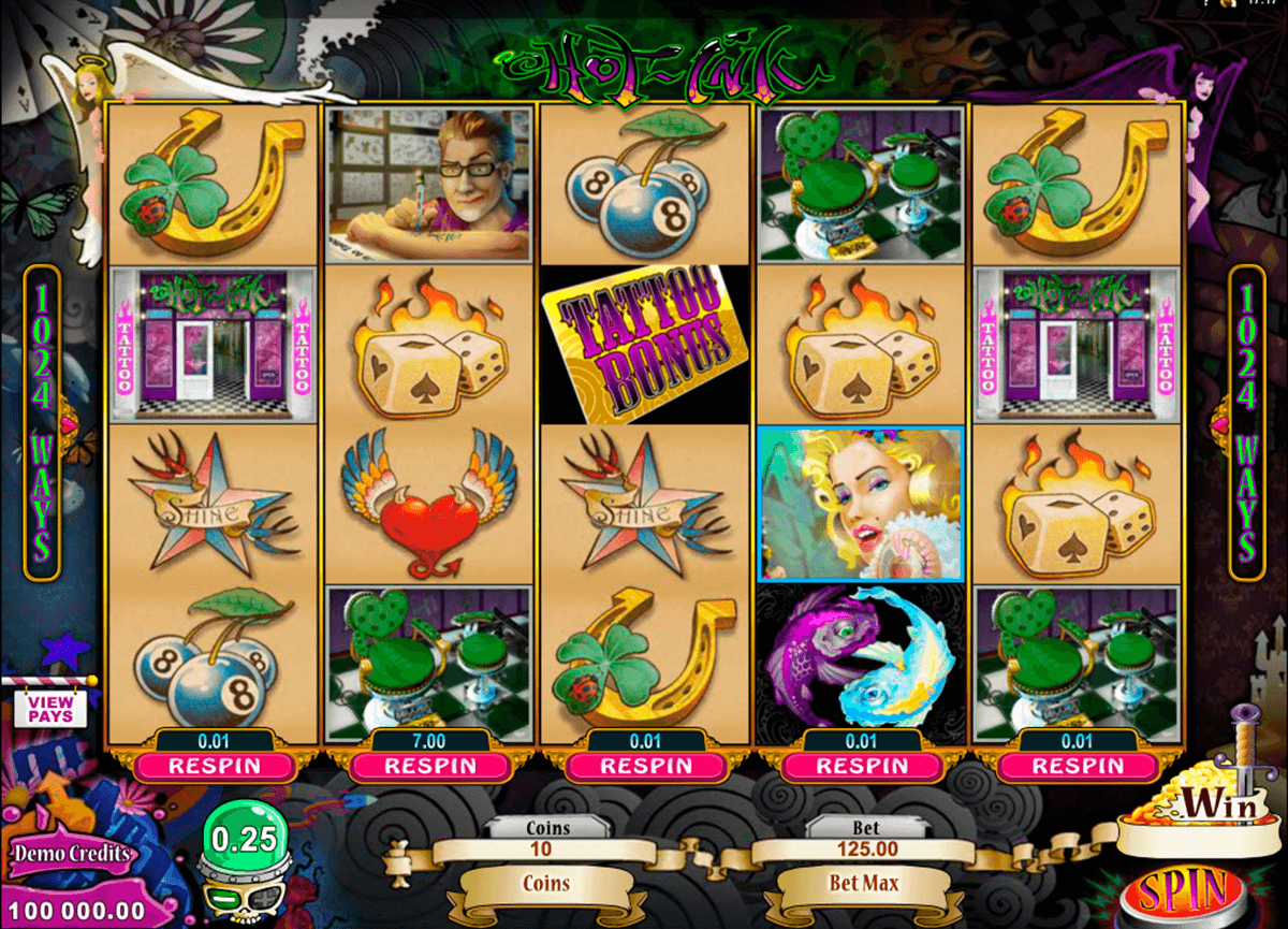 hot ink microgaming slot machine