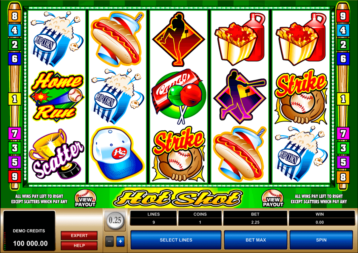 hot shot microgaming slot machine