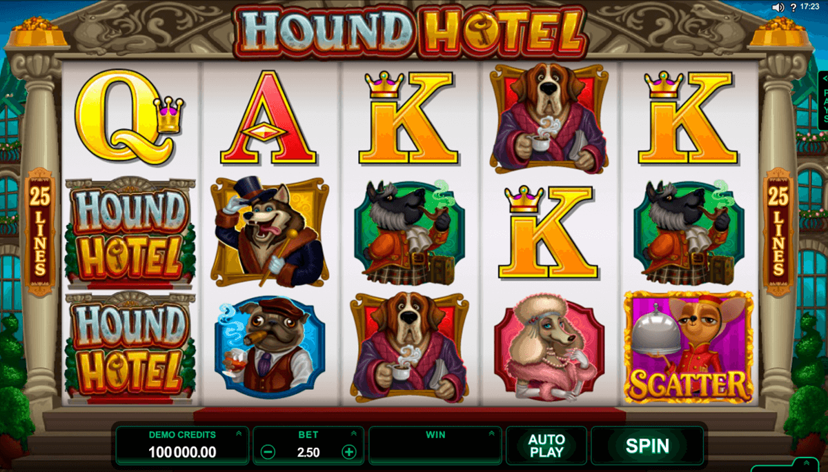 hound hotel microgaming slot machine