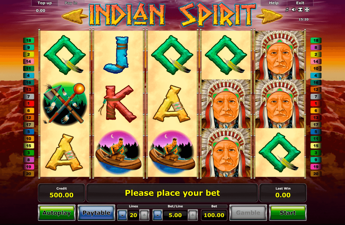 indian spirit novomatic slot machine