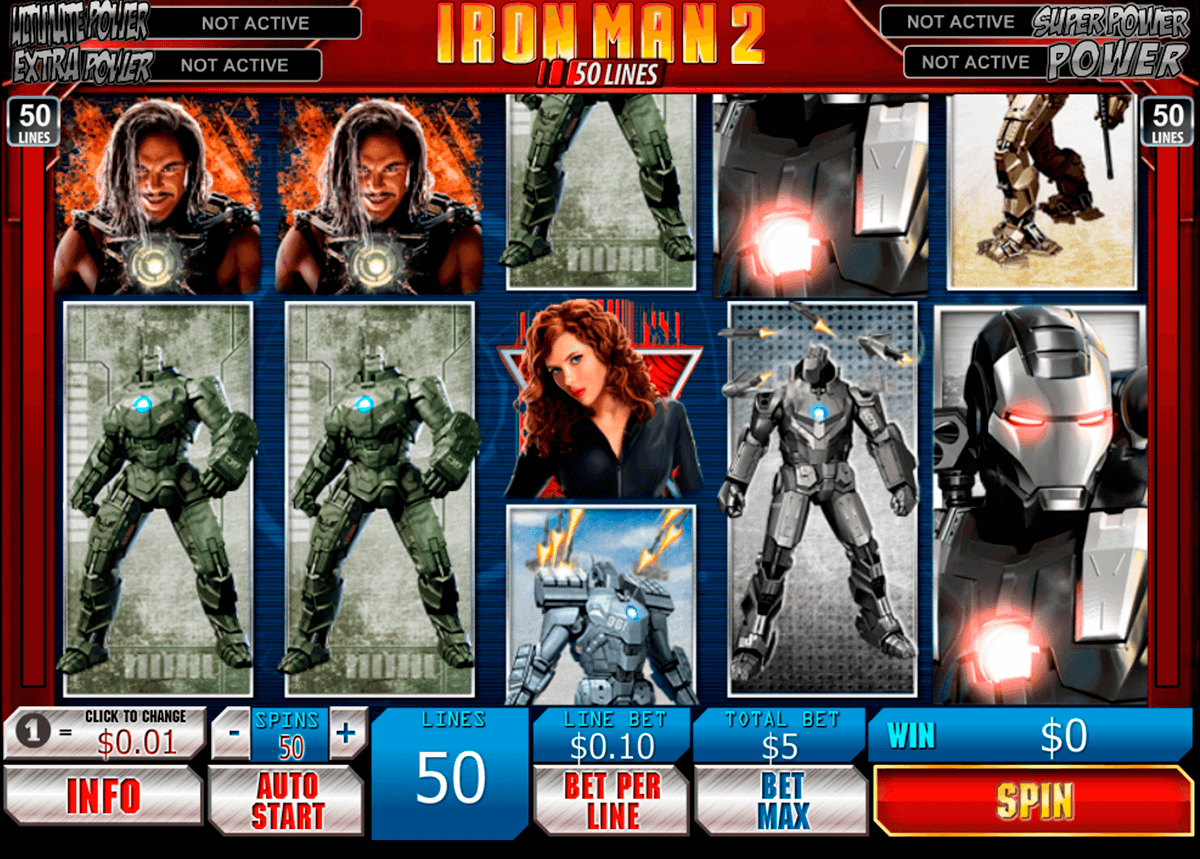 iron man 2 50 lines playtech slot machine