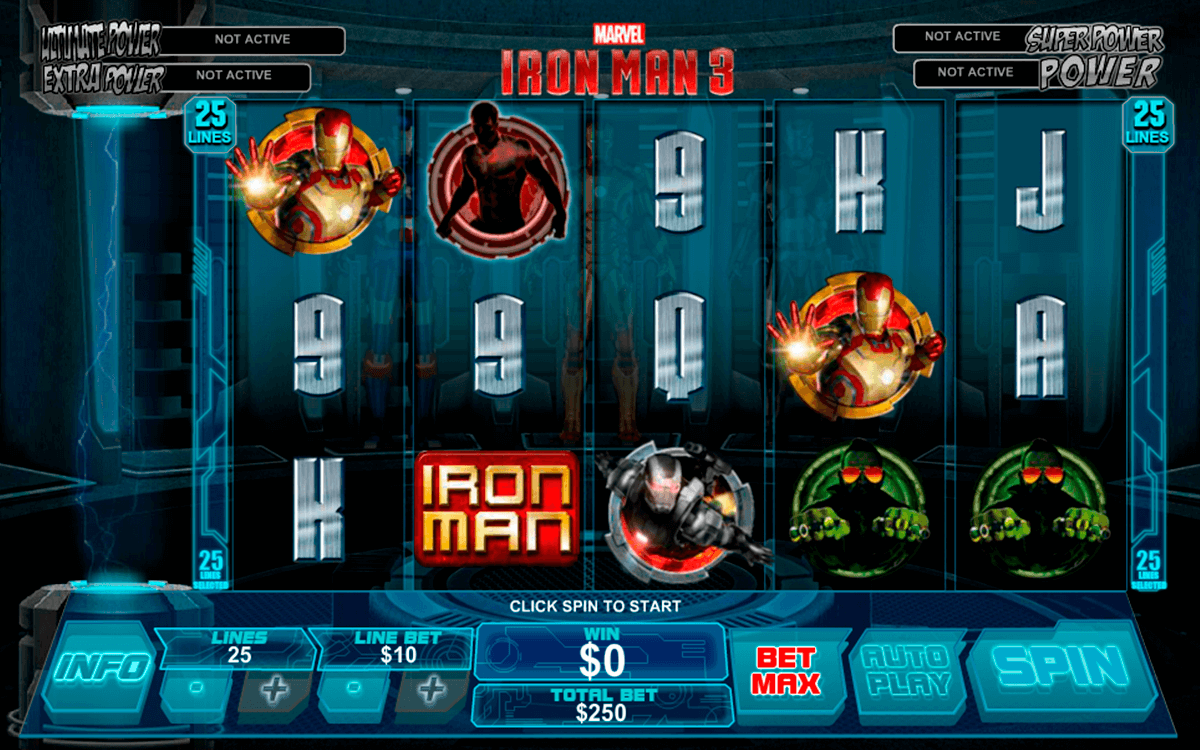 iron man 3 playtech slot machine